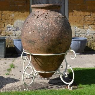 A 19th century terracotta amphora