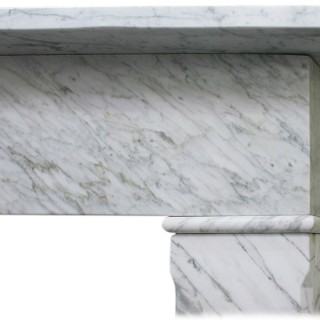 mid 19th Century Carrara marble fireplace surround