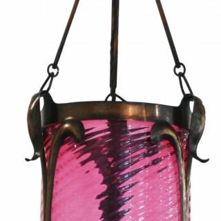 Edwardian Art Nouveau hall lantern
