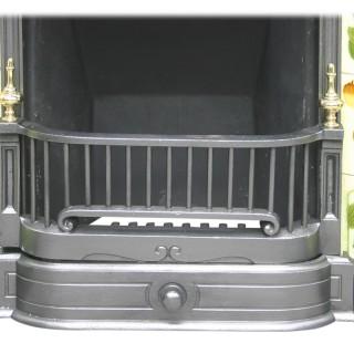 Large antique Edwardian Art Nouveau cast iron Combination fireplace
