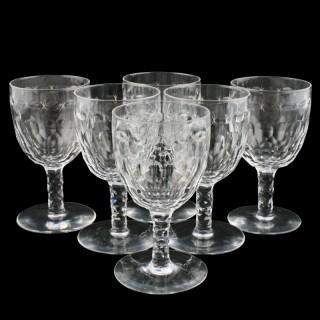 Six Georgian Style Wine Glasses