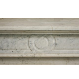 Antique Carrara marble fire surround in the Louis XVI style