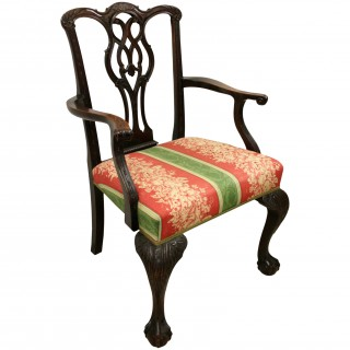 Set of 8 Chippendale Style Mahogany Dining Chairs