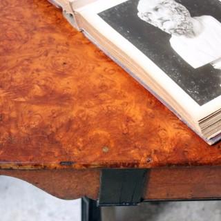 A Fine Regency Period Burr-Walnut & Solid Ebony Sofa or Centre Table c.1810-20