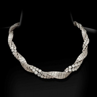 An Exceptional Diamond Necklace By Sterlé, c.1950