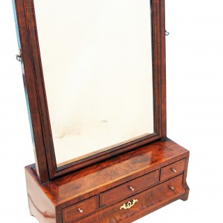 Antique Walnut Dressing Table Mirror