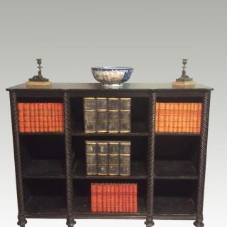 Regency black and gilt bookshelf
