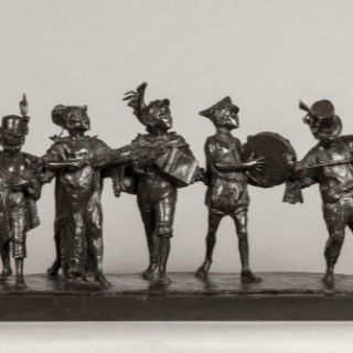 Bronze Statue 'At the Circus' By Francesco di Matteis