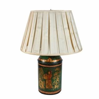 19th Century Tea Tin Lamp