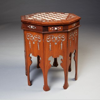 TWO MYSORE INDIAN LAMP TABLES