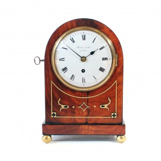 Timepiece Mahogany Mantel Clock by Barwise & Sons