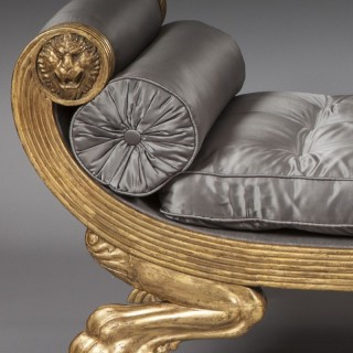 An Antique Regency Daybed in the Grecian Taste