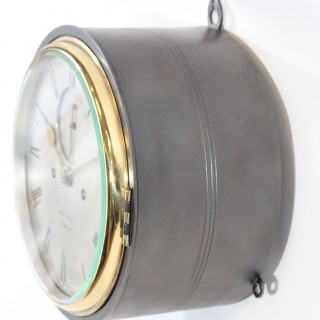 Striking Fusee Ships Clock by Benzie, Cowes