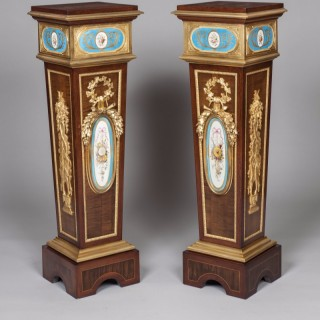 A Pair of Pedestals in the Louis XVI Manner