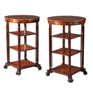 Pair of William IV Mahogany End Tables