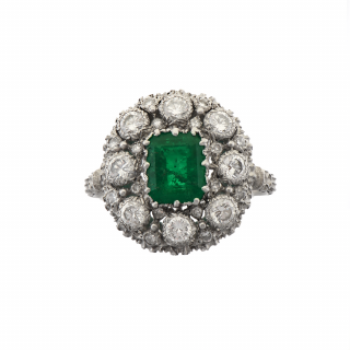Emerald and Diamond Dress Ring by Buccellati