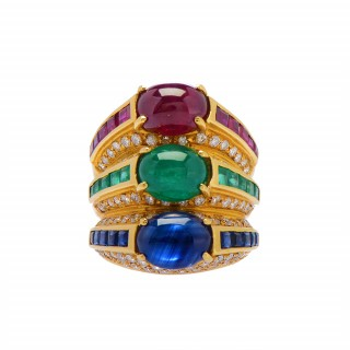 Ruby, Emerald, and Sapphire Ring