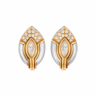 Diamond Ear Clips by Bulgari