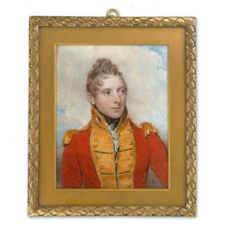 Portrait miniature of Captain James Ludlow Stawell (1783-1832) wearing the uniform of the 2nd Life Guards, 1806
