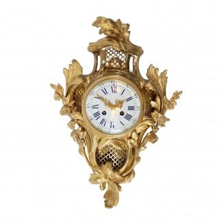 French striking Cartel Clock