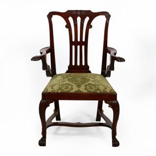 A Fine Irish  Georgian Armchair