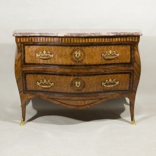 An exceptional mid 18th century Neapolitan bombe commode