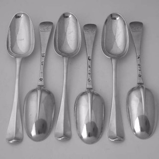 A set of 6 rattail tablespoons of exceptional quality