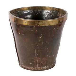 Georgian Leather Powder Bucket