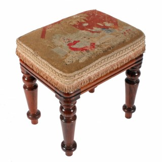 Mid 19th Century Rosewood Stool