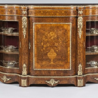 Floral Marquetry and Bronze Mounted Credenza