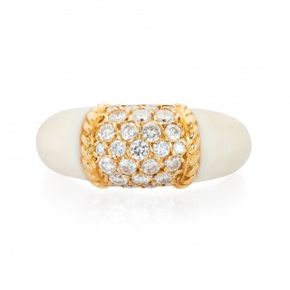 Rare White Coral Philippine Ring by Van Cleef & Arpels
