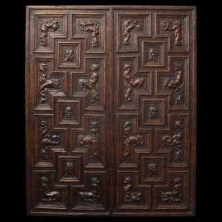 Pair of Carved Renaissance Door Panels