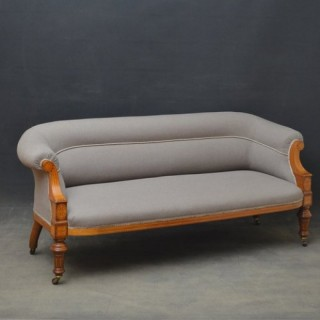 Elegant Victorian Walnut and Inlaid Sofa
