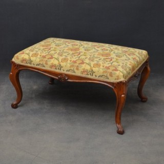 A Large Early Victorian Stool in Rosewood