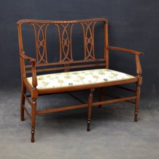 Stylish Art Nouveau Mahogany Settee - Sofa