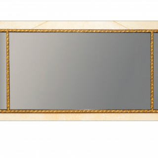 George III period carved gilt wood overmantle mirror