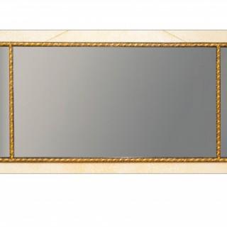 George III period carved gilt wood overmantle mirror