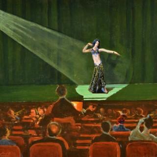 Exotic Dancer on Stage PILADE BERTIERI (1874-1965)