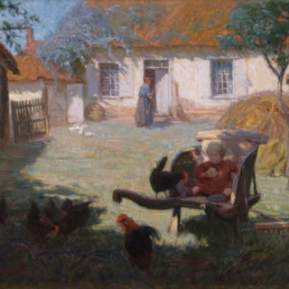 A Snack with the Chickens ANNIE L. SIMPSON (worked 1894-1913)