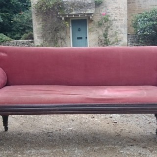 Regency Period Mahogany Antique Sofa