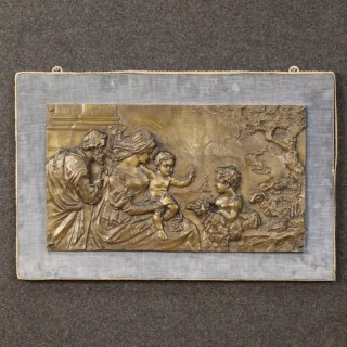 Early 20th Century Religious High-Relief In Bronze