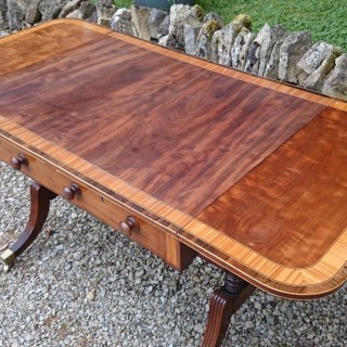 Regency Period Mahogany Antique End Support Sofa Table
