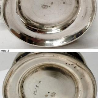 Pair of Antique George II Silver Mugs