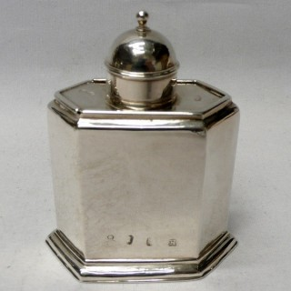 Pair of George I Silver Tea Caddies with Sliding Tops