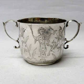 Antique William III Porringer