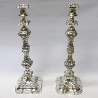 Victorian Silver Plated Candelabras with 7 Lights