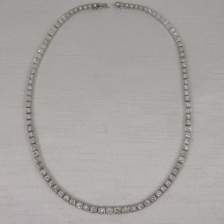 Vintage 1940 Platinum Diamond Necklace