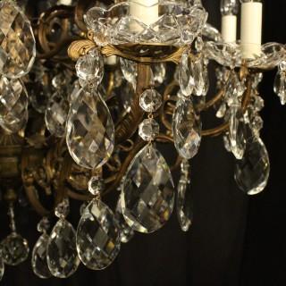 Italian Gilded 24 Light Antique Chandelier