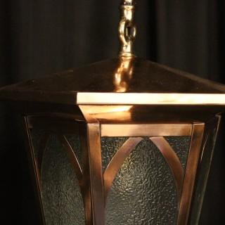English Copper Exterior Antique Lantern