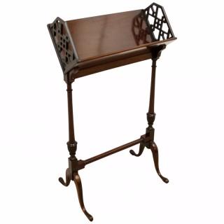 George III Style Mahogany Book Stand
